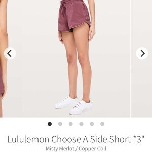 "Lululemon Choose a Side Short 3""*"
